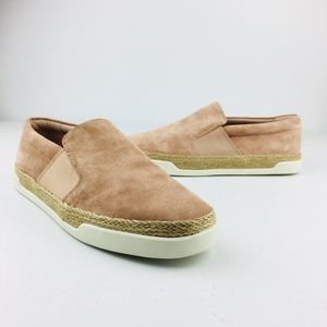Vince Johan Suede Slip On Sneakers Espadrille